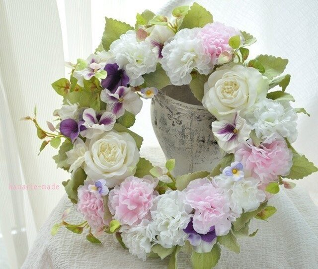 heart's-ease & rose wreathの画像1枚目