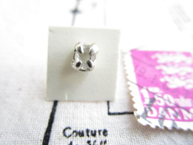 【再販】silver ハーキマーダイヤモンド 片方ピアスの画像1枚目