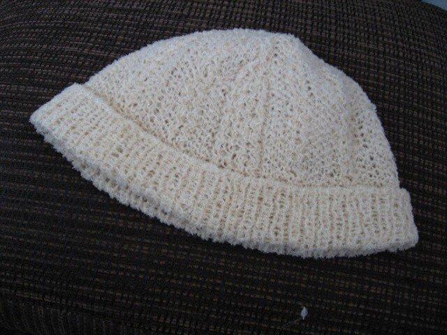 手編みニット帽子Cの画像1枚目