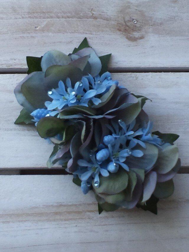 Fleur bleue (髪飾り)バレッタの画像1枚目