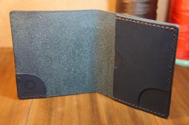スリムなお札&カード入れ ブルーの画像1枚目