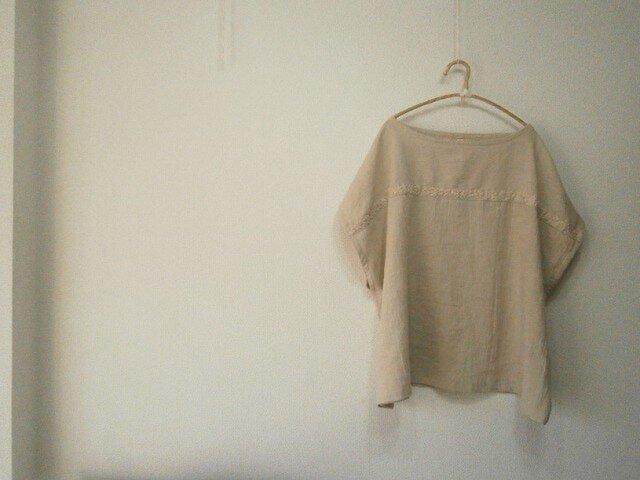 en-en手刺繍プルオーバー・麻色(016)大人服,婦人服,の画像1枚目