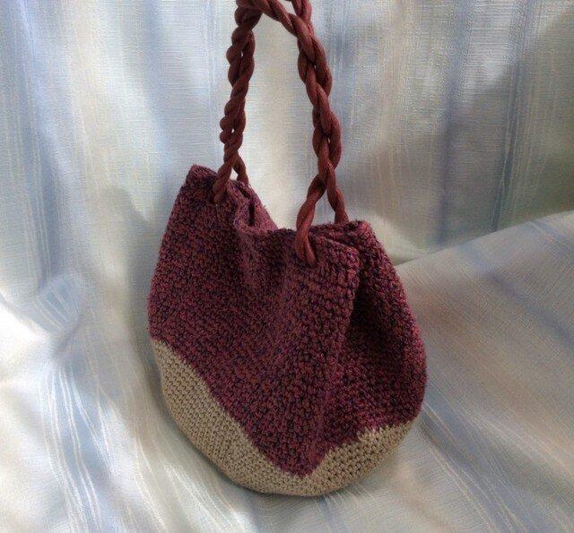 b1541 手編みバッグの画像1枚目