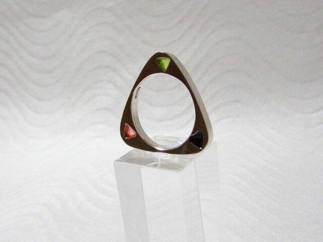 銀と樹脂のリング Aの画像1枚目