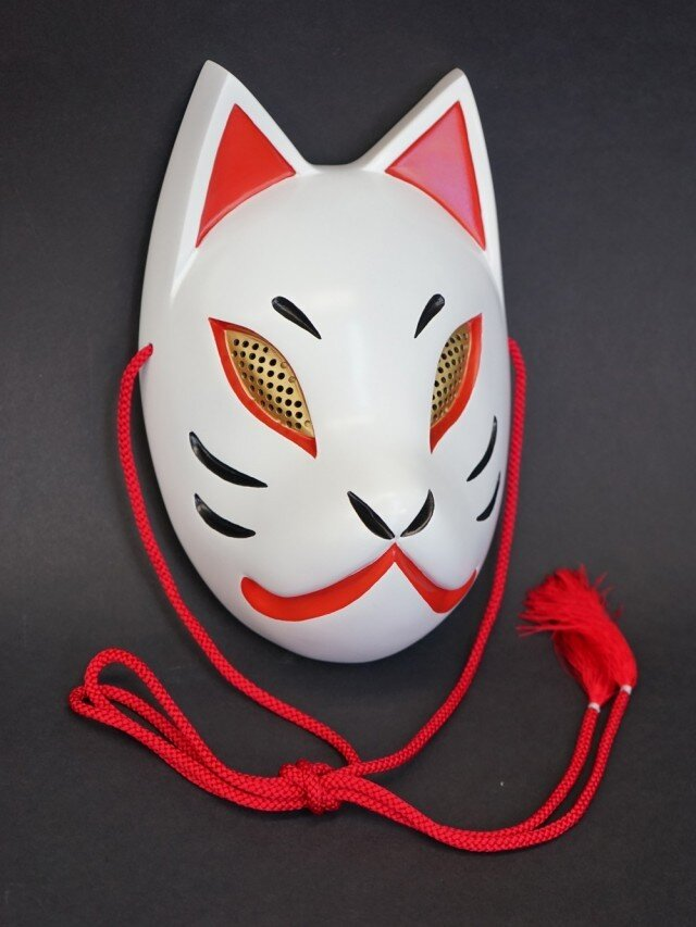 狐面(白×赤)の画像1枚目