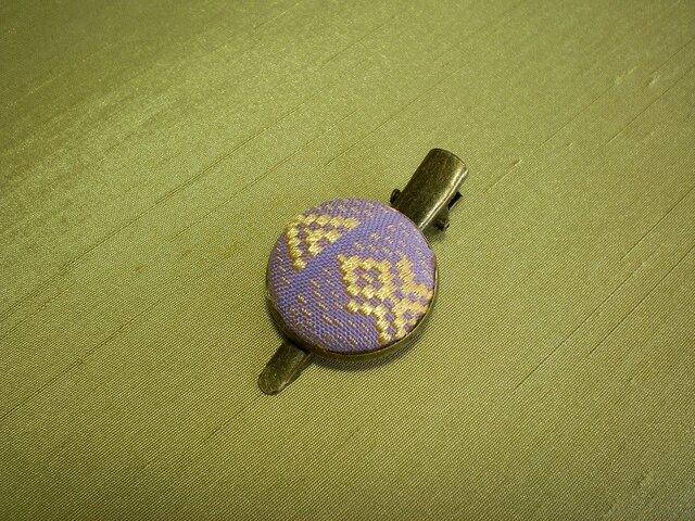 淡紫くるみボタンのクリップピンGOLDの画像1枚目