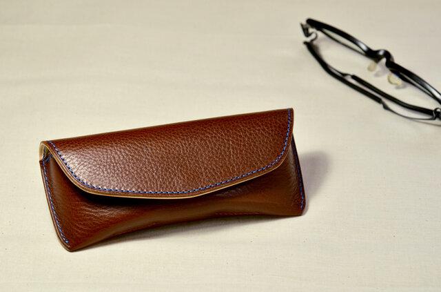 【14色から選んで作る】イタリアンレザー メガネケース Sサイズの画像1枚目