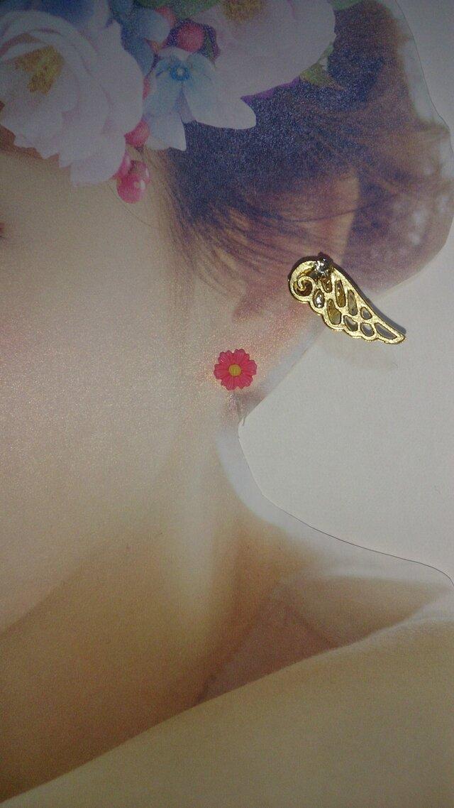 おしゃれさん必見♥ 天使の羽 イヤカフ 〜ストーン付〜の画像1枚目