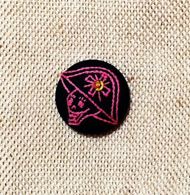 ヘアゴム(ガイコツ 甲冑VO2)ピンクの画像1枚目