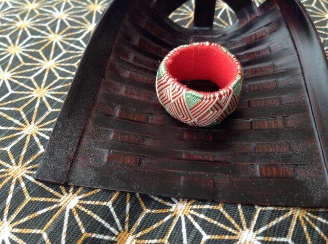 加賀ゆびぬき⭐️紅白×緑の画像1枚目