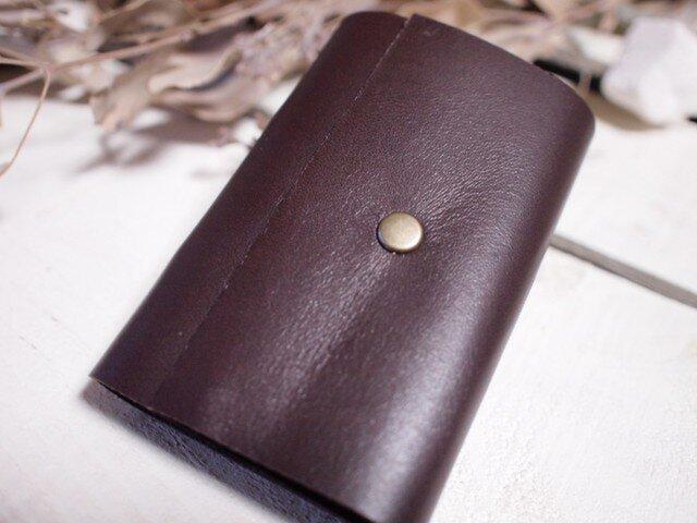 本革 チョコレイト色のカードケース№2の画像1枚目