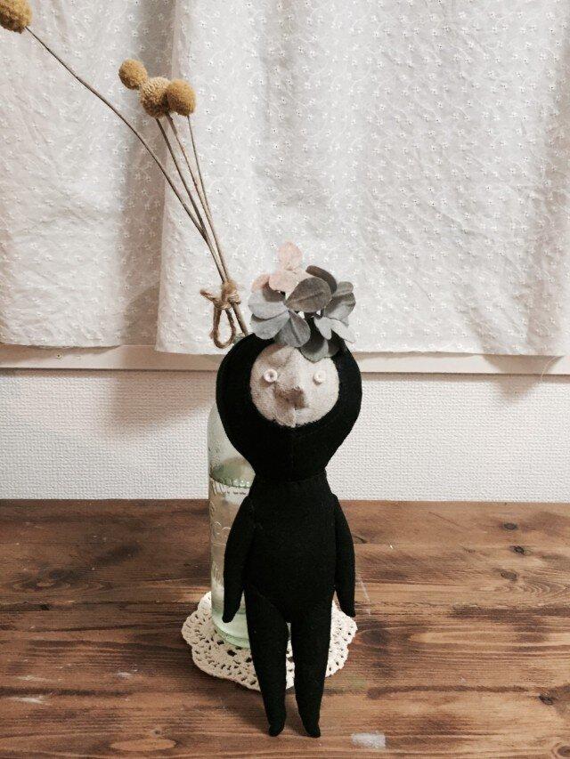 飾り人形 発表会の子供たち アジサイ ブルーの画像1枚目