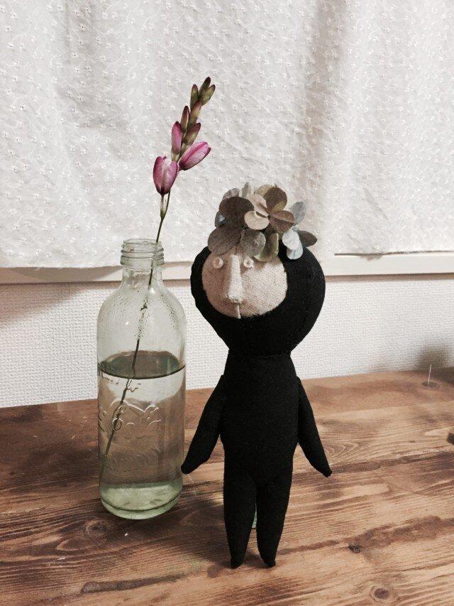 飾り人形 発表会の子供たち アジサイ ピンクの画像1枚目