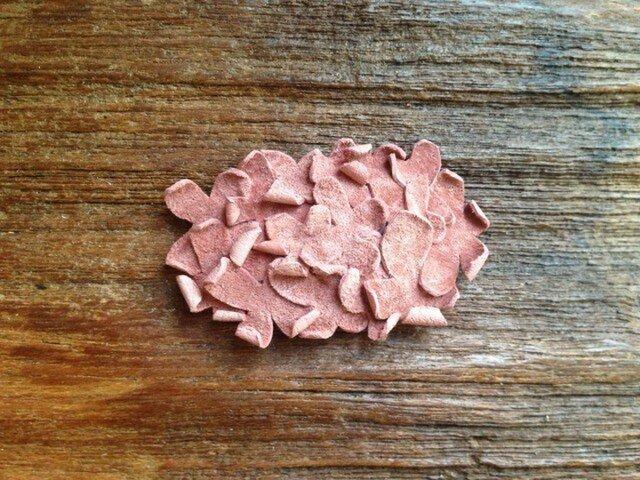革花のスリーピン  タマゴサイズ  サーモンピンクの画像1枚目