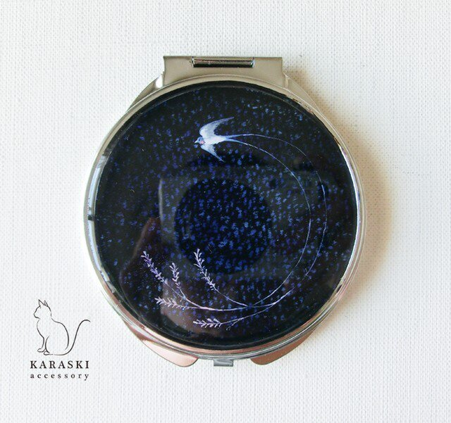 コンパクトミラー017/春ツバメの画像1枚目