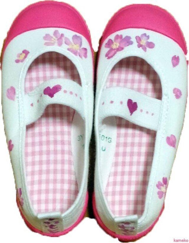 手描き靴★上靴★入園祝いにの画像1枚目