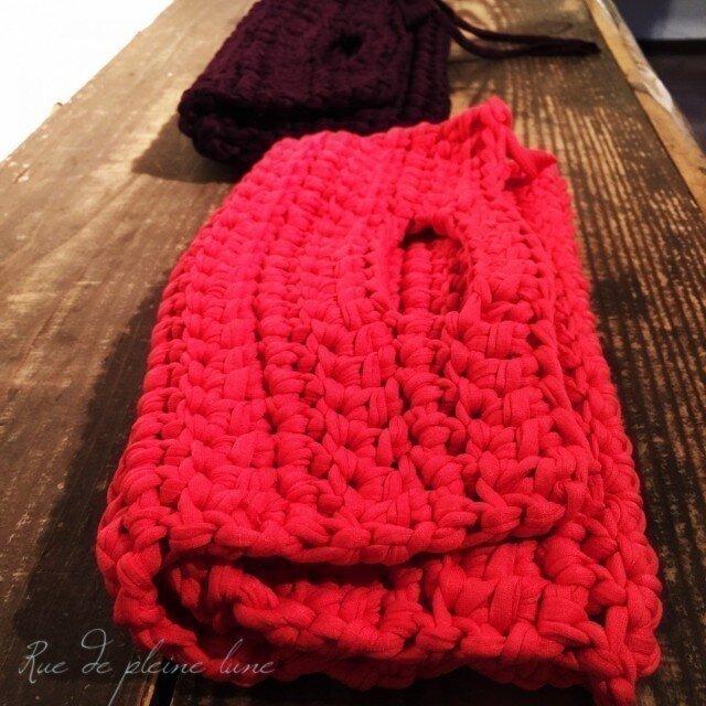 さき編み  クラッチバッグの画像1枚目