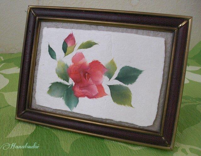 ちぎり絵カード 薔薇の画像1枚目