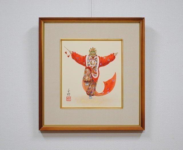 日本画色紙 「蘭陵王」の画像1枚目