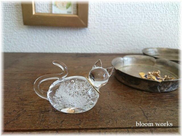 Glass Cat * リングスタンド【B】の画像1枚目