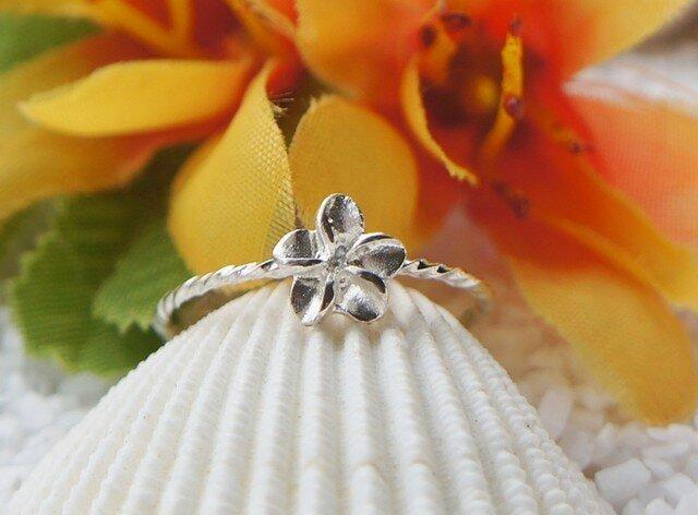 ハワイアンプルメリアリング(Silver)の画像1枚目