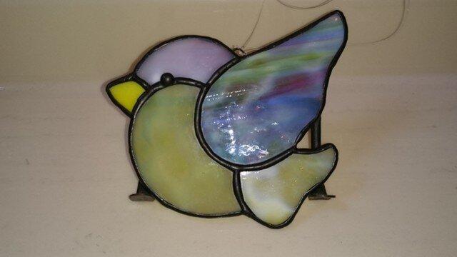 ステンドグラス 鳥 (大)の画像1枚目