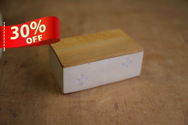 バターケース No,24 / ホオの木と陶器の画像1枚目