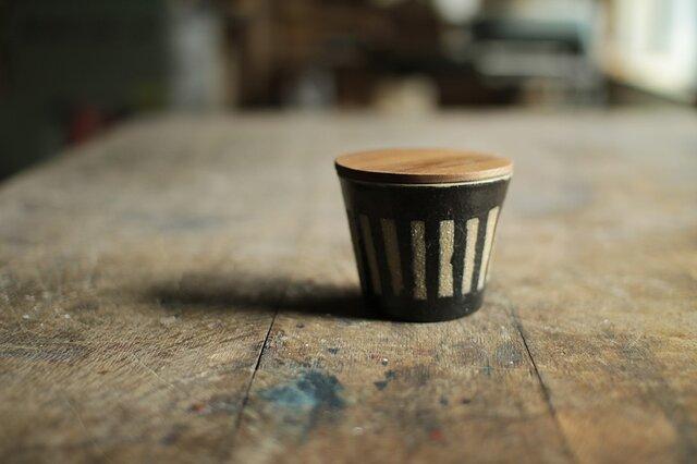 マグカップ No,7 / 木の蓋付きの画像1枚目