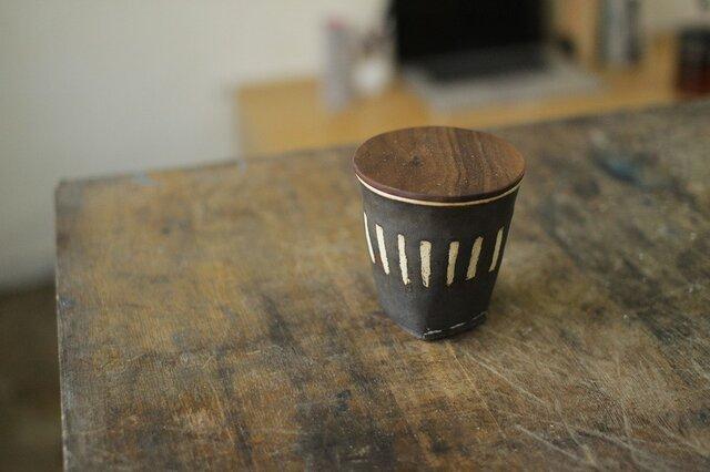 マグカップ No,12 / 木の蓋付きの画像1枚目