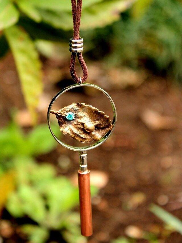 昆虫学者のための虫メガネ ネックレス てんとう虫の画像1枚目
