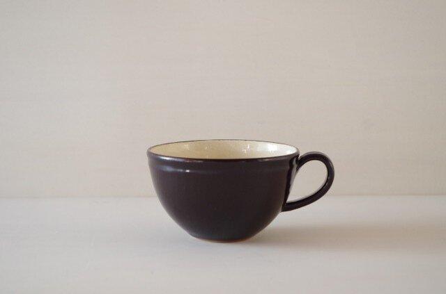 ティーカップ・丸・黒の画像1枚目