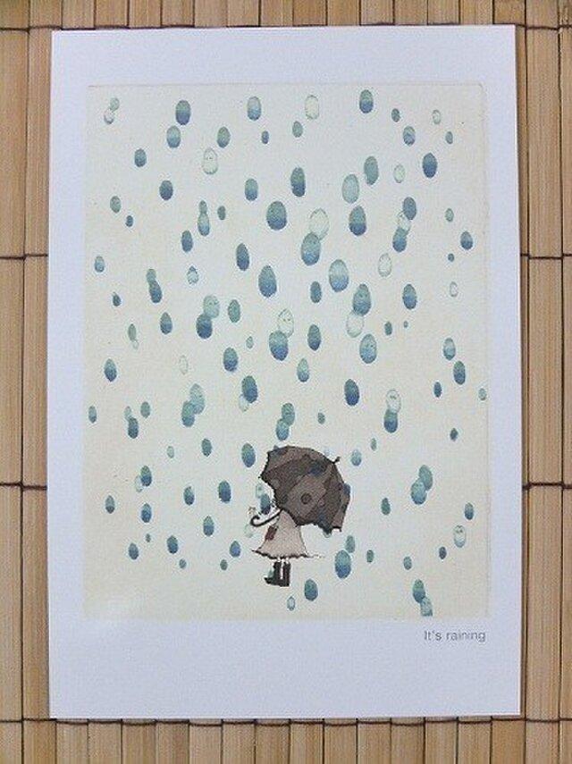 ポストカード It's raining 2枚入りの画像1枚目