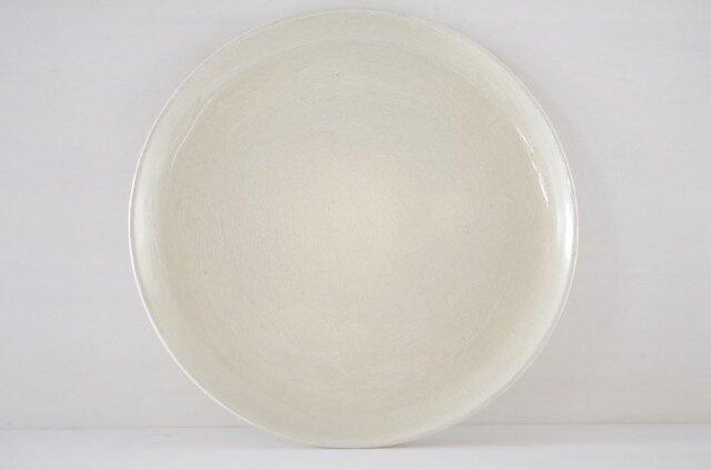 9寸皿・平・ベージュの画像1枚目