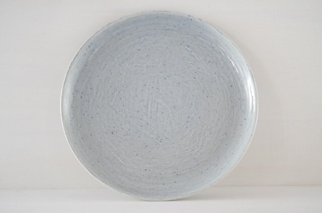 9寸皿・平・水の画像1枚目