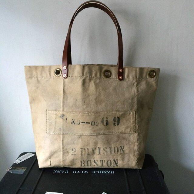 40年代USNビンテージキャンバスリメイクトートバッグ0136の画像1枚目