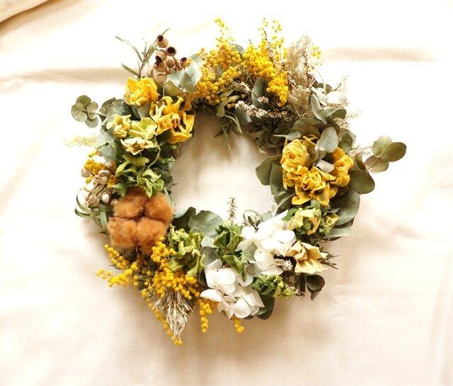 yellow×green wreathの画像1枚目