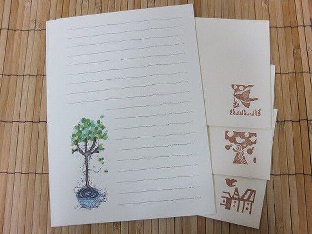 レターセット treeの画像1枚目