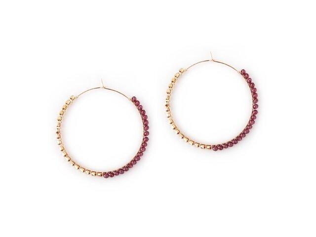 <SALE> DESERT ROSE Earringsの画像1枚目
