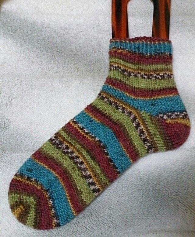手編み靴下 ONlinesupersocke 184の画像1枚目