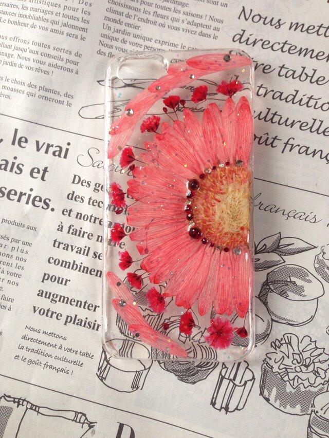 iPhone5.6 押し花ケースの画像1枚目