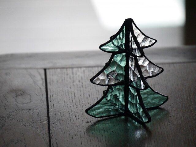 【再販】ステンドグラス クリスマスツリー 3の画像1枚目
