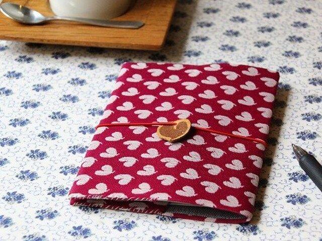 再販)ハート模様のノートカバー(小)の画像1枚目