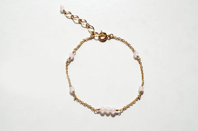 ローズクォーツ ブレスレット Rose Quartz bracelet B0030の画像1枚目