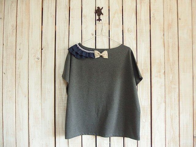 コラージュTシャツ/チャコール Cの画像1枚目