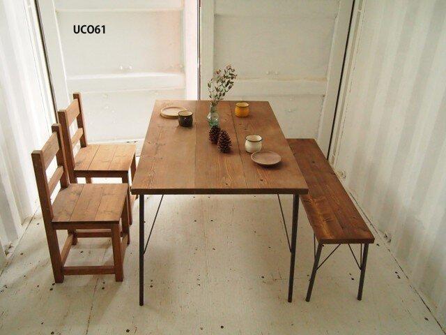 アイアン脚■ダイニングテーブル【1200×800】(ダーク)の画像1枚目