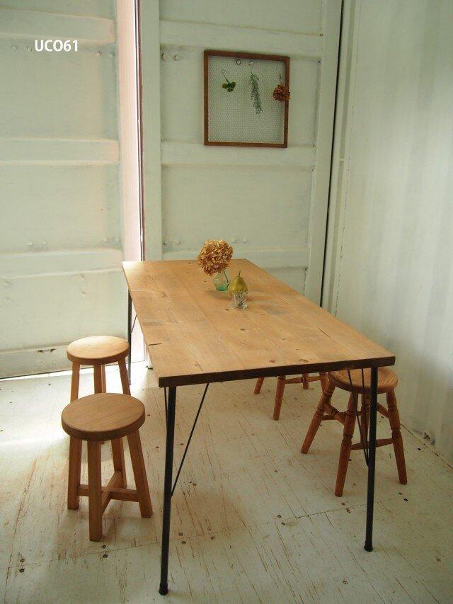 アイアン脚■ダイニングテーブル【1200×800】(ミディアム)の画像1枚目