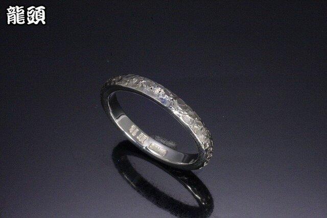 指輪 メンズ : 甲丸籠目鎚目リング 4~27号の画像1枚目