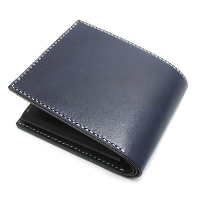 ボタンポケットボタンポケットの2つ折り財布(カラー:Blue)の画像1枚目