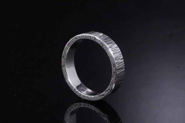 指輪 メンズ : ゴザ目鎚目リング 4~27号の画像1枚目