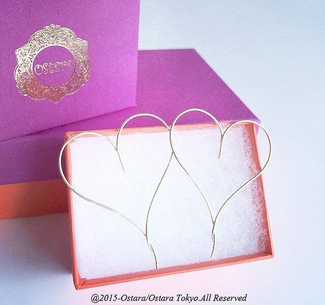 【14KGF】Earrings,Simple Heartの画像1枚目